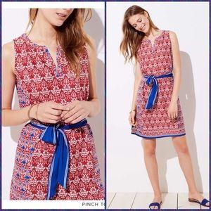 NWT loft sleeveless split neck dress